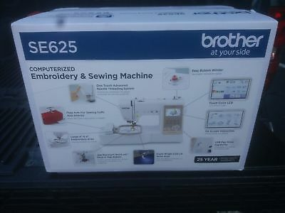 Brother SE625 Computerized Sewing and Embroidery Machine (NEW IN THE BOX)