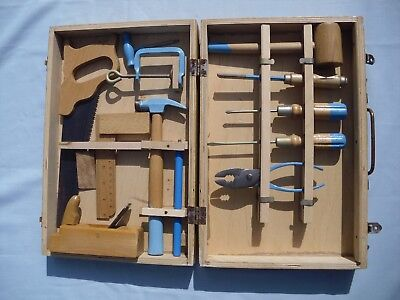 Vintage Child'S Large Carpentry Toolkit In Box – Maybe/ Like Moulin Roty
