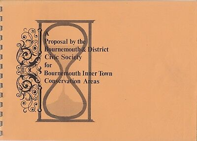 Bournemouth Civic Society 1970's Proposal For Conservation Areas Book