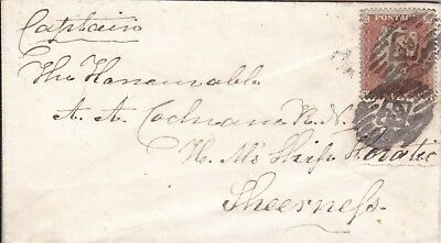Hms Horatio 1855 Envelope To Captain Cochrane At Sheerness