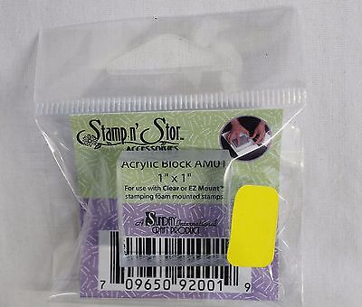 """Stamp n' Store Acrylic Block 1"""" X 1"""" AM01 Crafts New"""