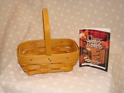 PARSLEY Booking Collection Basket Hostess Only Longaberger Classic Stain  *NEW*