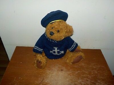 Vintage Pickford Bear Tango Jointed Bear Of Health w/ Beret Sweater Brass Button