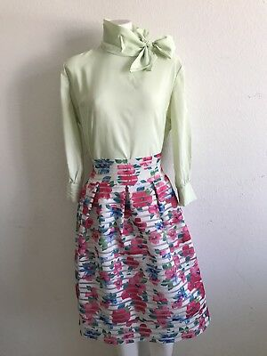 Vintage Green Charm Of Hollywood Blouse Size M/L