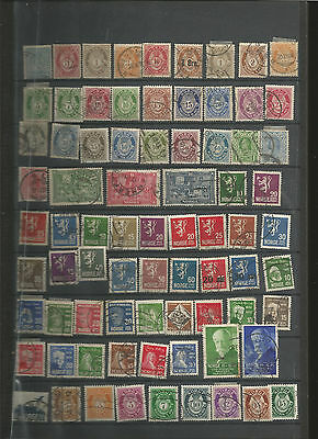 LARGE NORWAY STAMP COLLECTION (to 1977) (9 scans)