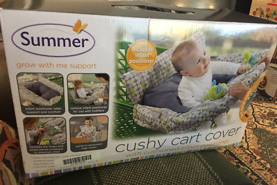 Summer Infant Cushy Cart Cover - Gray/Green ,New, 40% Off, Free US Shipping!