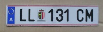 Austria License Plate  Numbers And Codes On The Tables Written