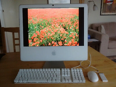 Apple iMac 4,1 (2007) computer, 20in screen, 2 GB RAM, plus accessories
