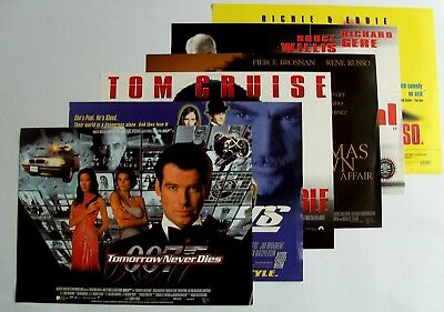 Set of 6 Mini Film Posters (A3) incl. James Bond, Mission Impossible & Others