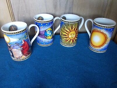 4 x Dunoon Eclipse Design Mugs by  Jane Goodwin