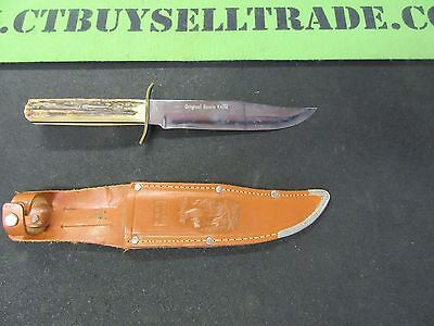 Vintage Edge Brand Solingen Germany Hunting Original Bowie Knife With Sheath