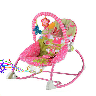 Baby Infant Rocker Bouncer Swing Reclining Chair Soothing Music & Toys 0M+