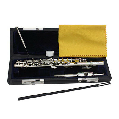 Cupronickel Tube Nickel Plated C Key Piccolo Set Orchestra Parts Silver 67cm