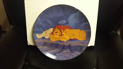 """Disney The Lion King Collectible Plate """"Rise And Shine"""""""