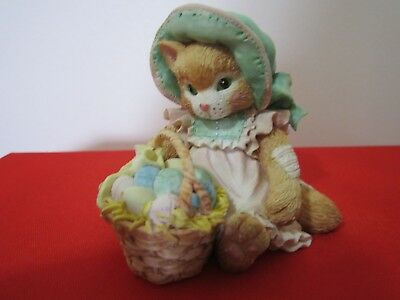 """Vintage Calico Kittens Figurine """"EASTER WISHES COMING YOUR WAY"""" 1993 P. Hillman"""
