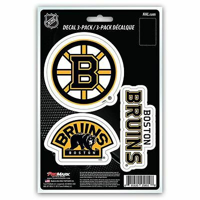 Boston Bruins Auto Decal NHL Car Sticker Pack of 3