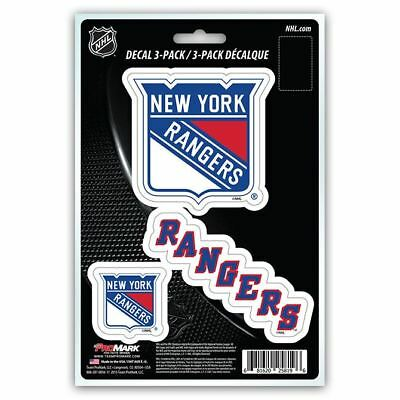NHL New York Rangers Team Decal - Pack of 3