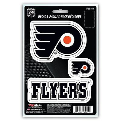 Philadelphia Flyers Decal Team NHL Pack of 3