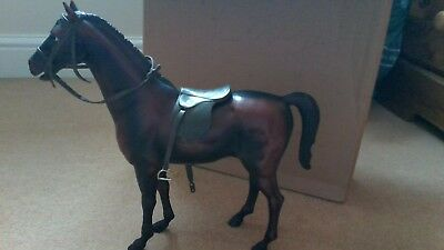 Vintage Sindy Horse with saddle and bridle, all in good condition.
