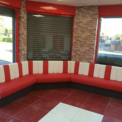 Bespoke Restaurant Banquet Booth Seating , Bench Fixed Seating From £50 A Foot