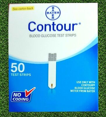 Contour Bayer Blood Glucose, 50 Test Strips Expiry 09/2018 Or later NEW & SEALED