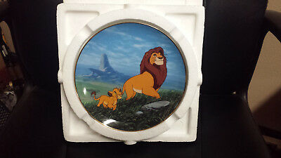 """Disney The Lion King Collectible Plate """"Like Father, Like Son"""""""
