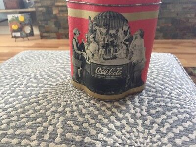 COCA COLA VINTAGE 1920's DESIGN TIN CANISTER MARKETED IN PARIS, FRANCE