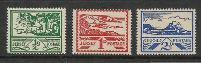 Jersey 1943 War Occupation Second Set 3 Values Never Hinged Mint