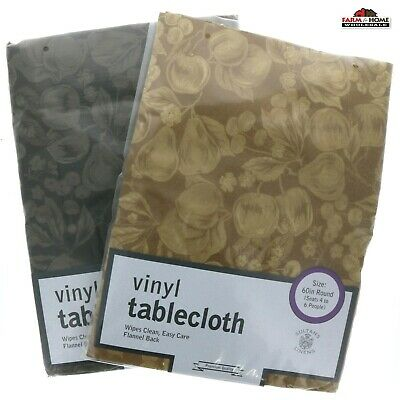 Fruits Tablecloth ~ Vinyl Flannel Back Various Colors & Sizes ~ NEW
