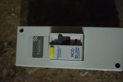 NEWLEC 40A 40 AMP 30mA NLRCD4030A RCD CIRCUIT BREAKER and NLRCDEPA BOX