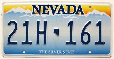 "Embossed Nevada ""Sierra Mountains Sunrise"" License Plate, Las Vegas, Reno"