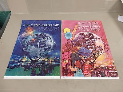 Two Original Vintage 1964-1965 New York World's Fair Travel Posters - Airline