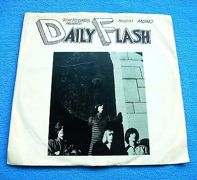 """THE DAILY FLASH 1st US 7"""" *MOXIE* TOP RARE GARAGE PUNK PSYCH EP+PS~NEAR MINT!!!"""