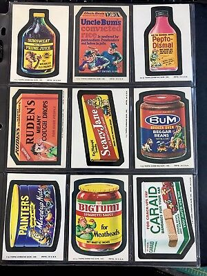 1974 ORIGINAL SERIES Wacky Packages 10th Complete Set 29/29 + PUZZLE HIGH GRADE