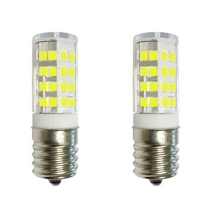 2-Pack Appliance Refrigerator LED Light Bulbs 4W E17 6000K Cool White Daylight