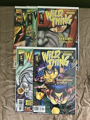 Complete Set of 5 Wild Thing (1999) #1 2 3 4 5 Wolverine NM Near Mint