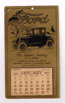 1927 Ford calendar Excellent condition with GREAT graphics postcard size