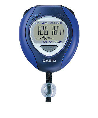 Casio HS-6-2JH Stop Watch Timer BLUE Sports Chronograph handheld LCD Lap silent