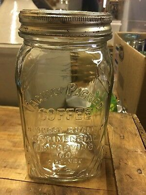 Vacuum Packed Coffee Highest Quality Commercial Importing Co Antique Quart Jar