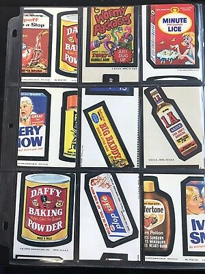 Topps Wacky Packages Severely Miscut Wacky Packages Lot of 9 Stickers