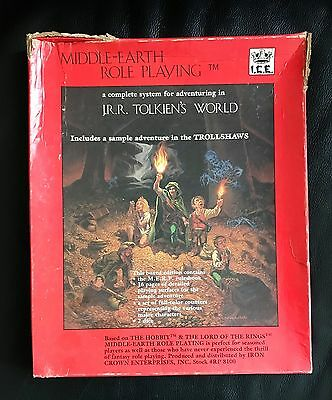 MERP - Middle-Earth Role Playing #8100 Box Set ICE 1984