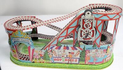 Tin Lithographed Chein Roller Coaster Vintage Toy-1950s-LKBM