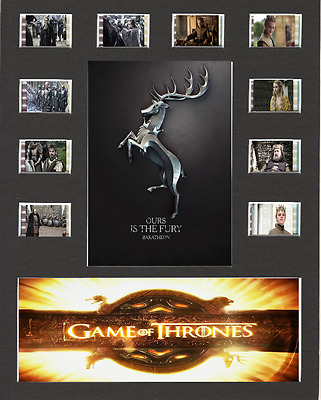 Game Of Thrones Film Cell Presentation 10 x 8 Mounted House Baratheon