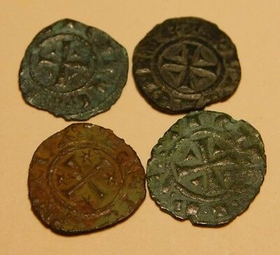 Medievail Crusader Coins (4) Manfred, son of Frederick II