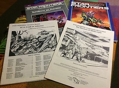 4 Star Frontiers Roleplaying Game Adventure Modules, by TSR