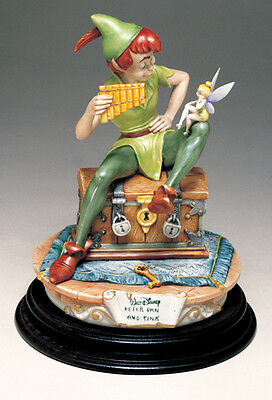 Peter Pan with Tinker Bell Tinkerbell Disney Capodimonte C.O.A. MIB Original Box