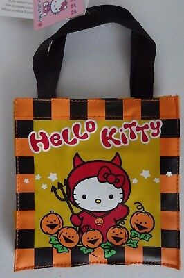 HELLO KITTY depicted as a LITTLE DEVIL in her PUMPKIN Patch Vinyl Goody Bag NEW