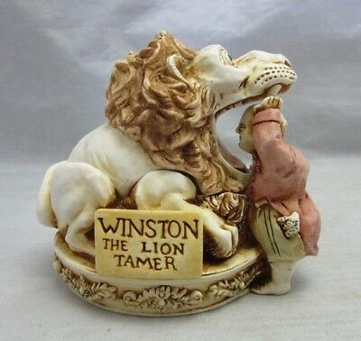Harmony Kingdom. Winston The Lion Tamer. Netsuke style trinket box