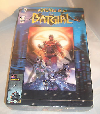 Batgirl Hologram Comics Recycled Wooden Cigar Box