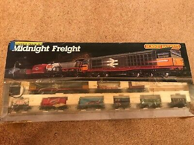 Hornby midnight freight train set